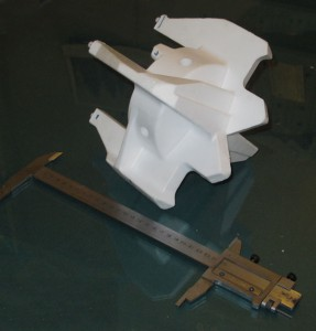 Пенопластовая модель отливки. Буровая коронка