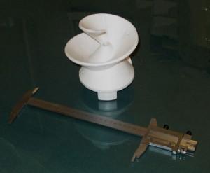 Пенопластовая модель отливки. Шнек